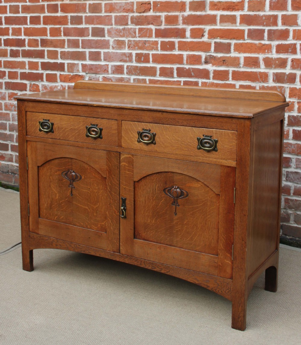 oak arts and crafts sideboard 253847