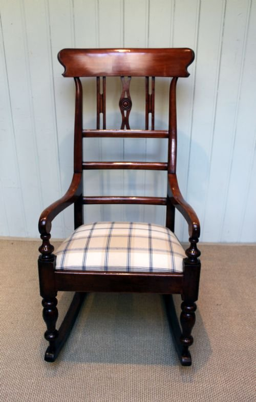 substantial fruitwood rocking chair