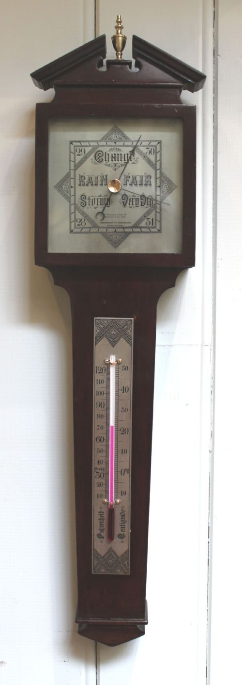 unusual inverted aneroid barometer