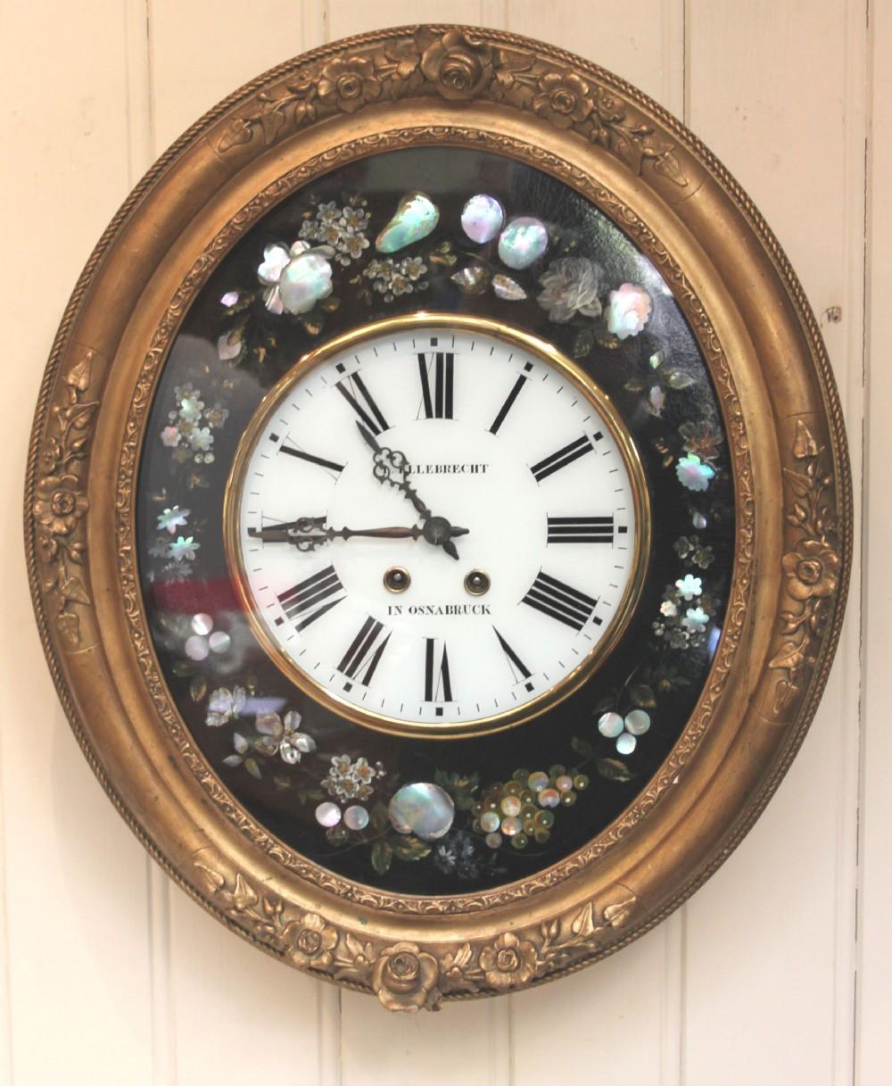 Unusual Oval Vineyard Wall Clock 270948