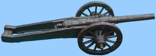 antique miniature bronze cannon