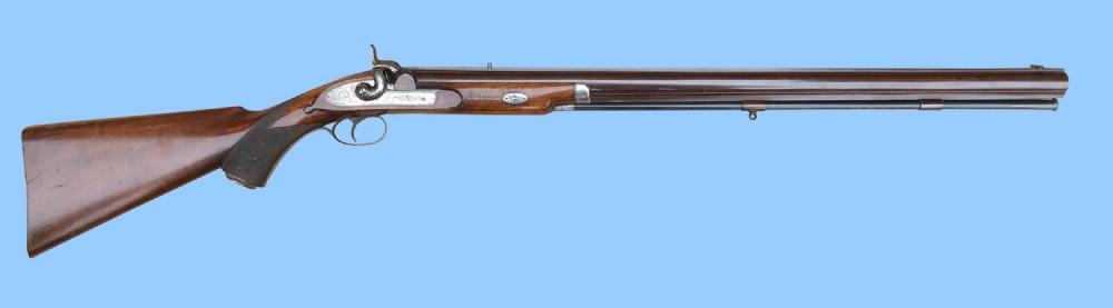 antique gun 10 bore big game muzzleloading percussion rifle circa 1850