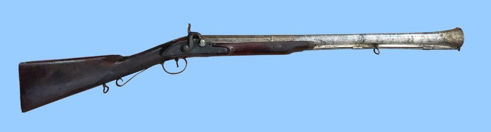 antique gun colonial indian percussion musketoonblunderbuss