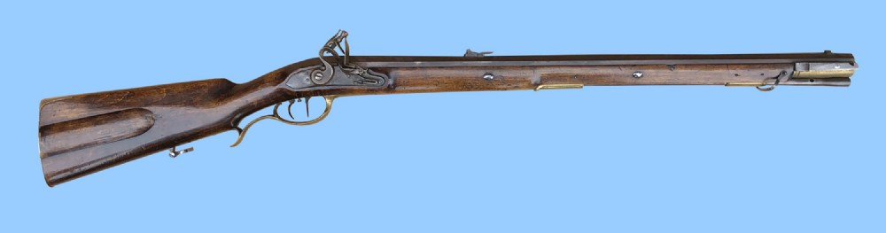 antique gun german jaeger flintlock hunting rifle