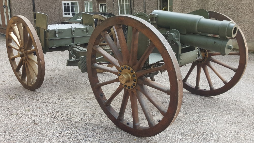 antique german howitzer and caisson dated 1895