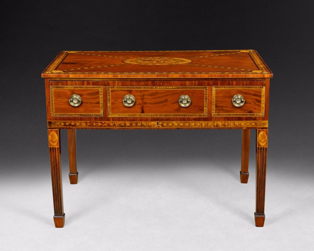 george iii period mahogany and marquetry dressing table hepplewhite