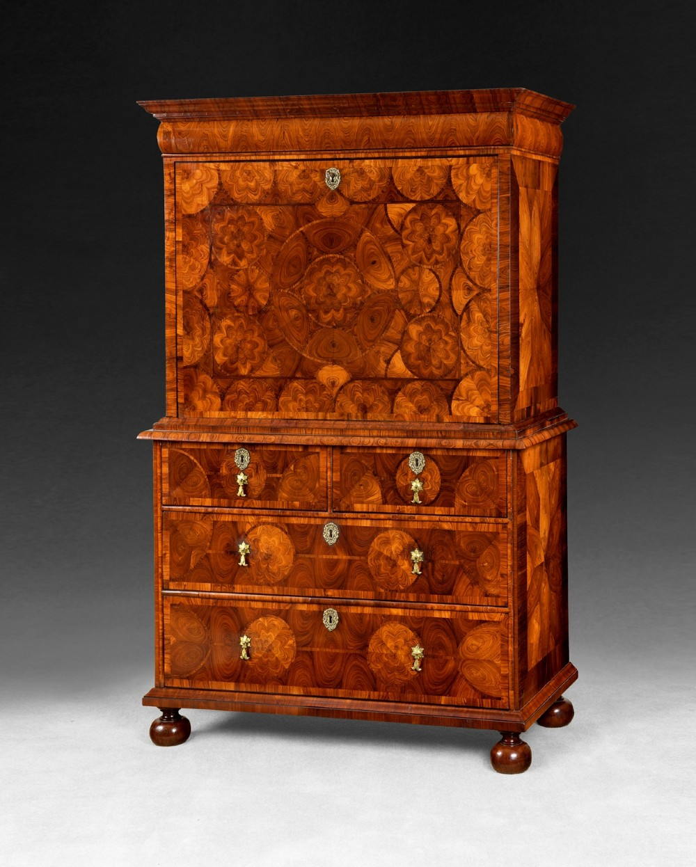 william and mary period kingwood escritoire by thomas pistor