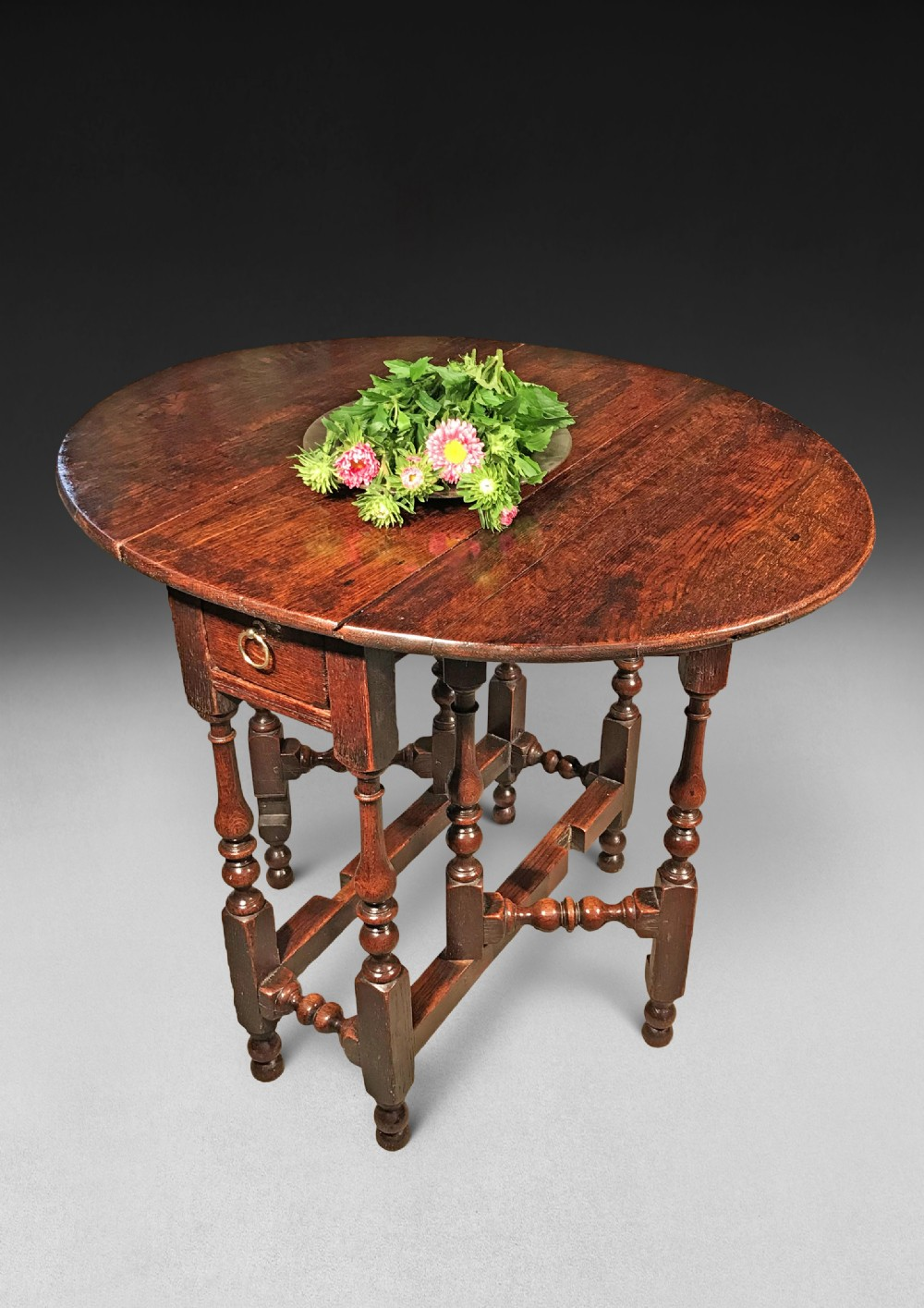 Queen Anne Oak Gate Leg Table  12  Sellingantiques.co.uk
