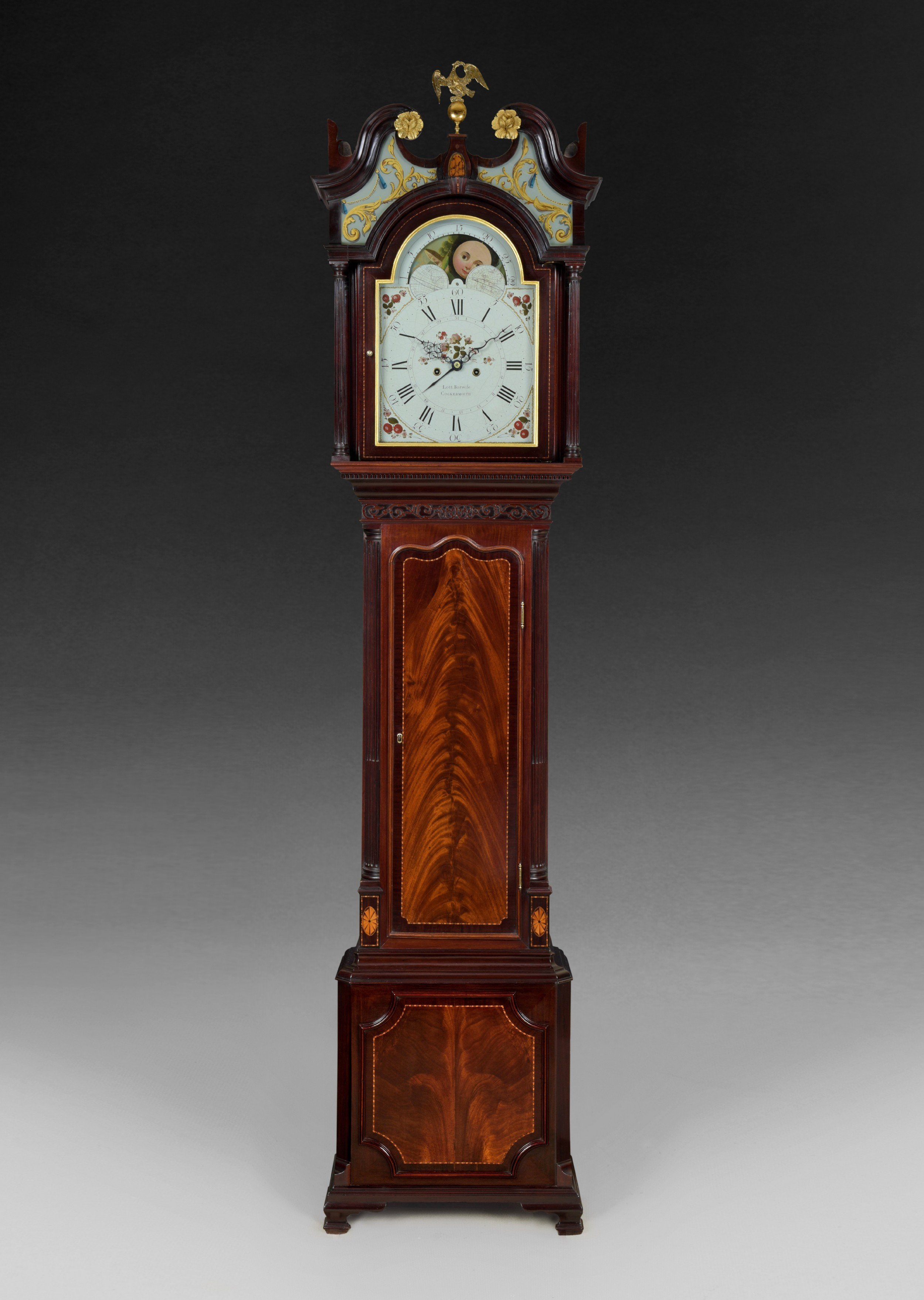 a superb george iii mahogany and inlaid longcase clock by lott barwise of cockermouth