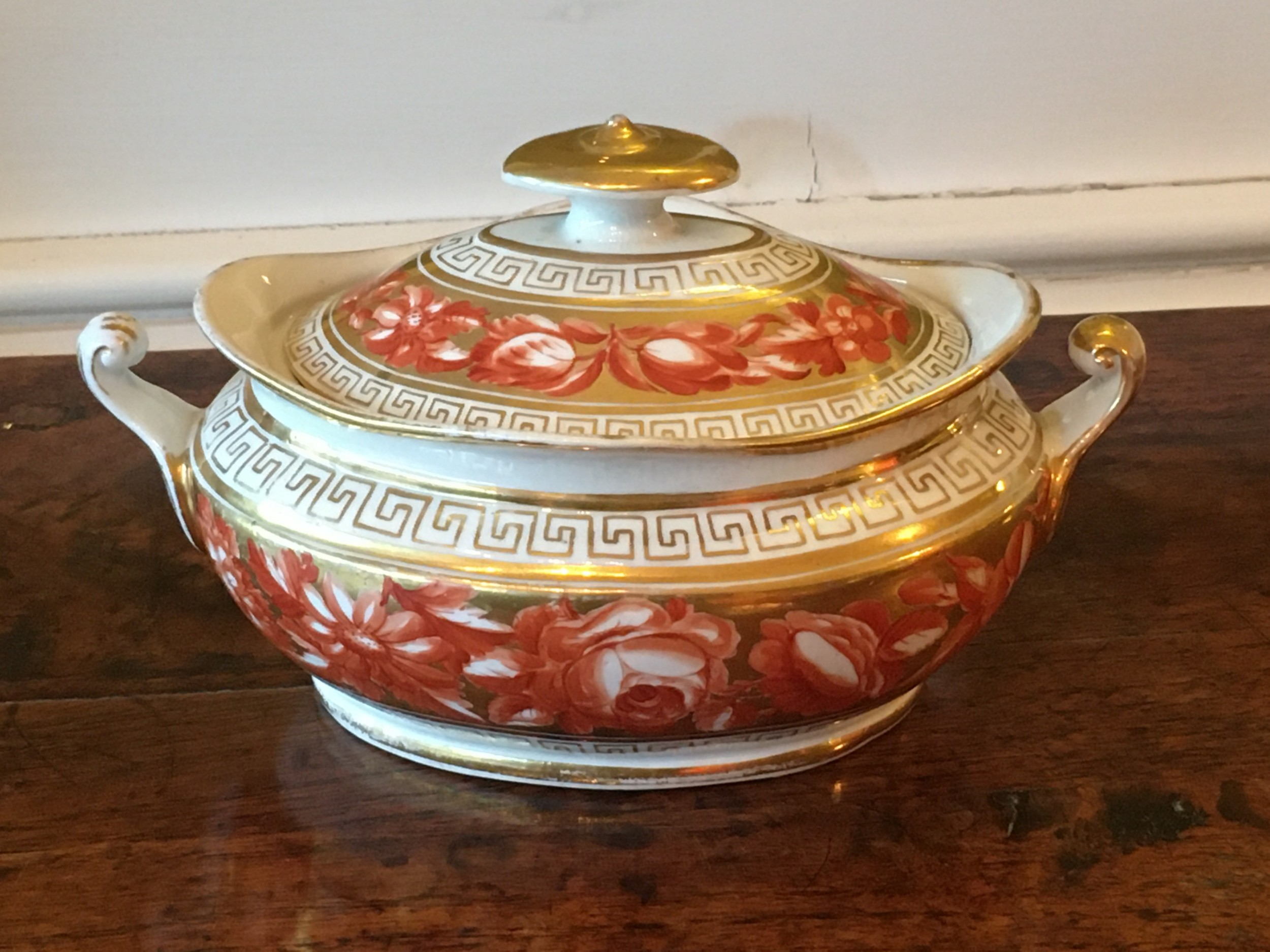 coalport sucriere with cover