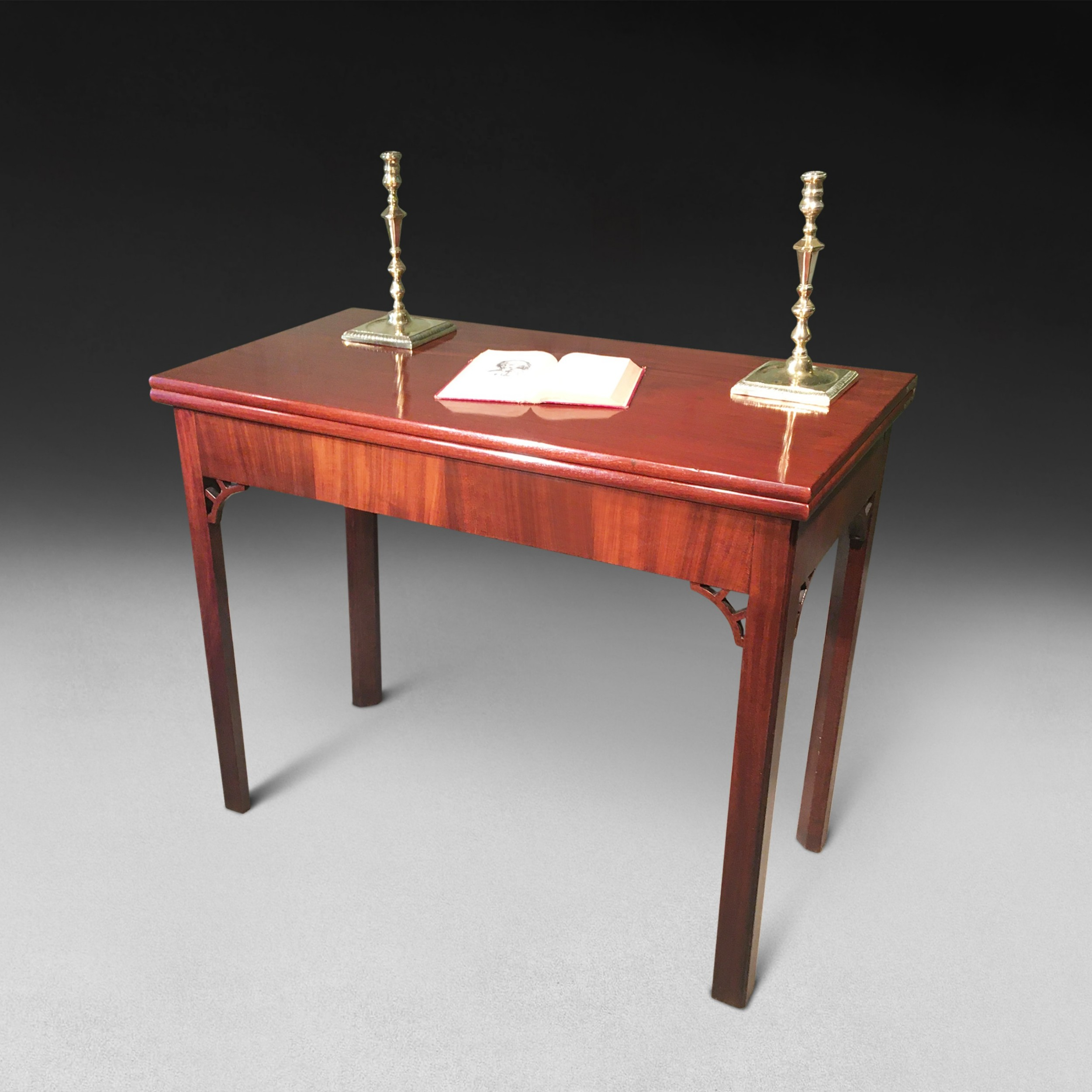 george iii mahogany turnover top tea table with concertina action