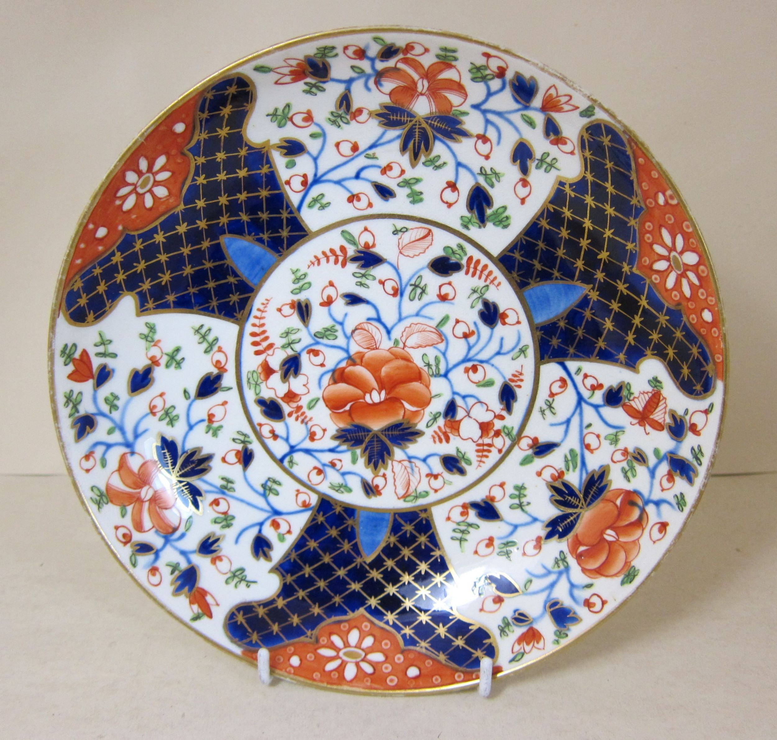 derby porcelain imari saucer dish