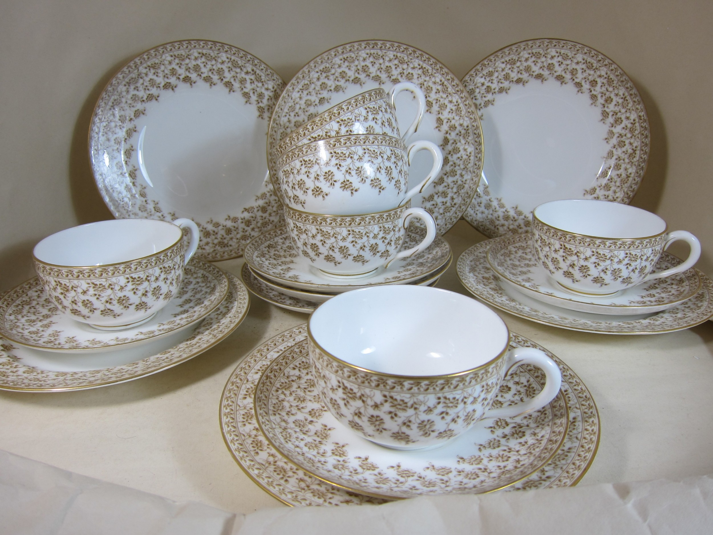 royal worcester porcelain set of 6 breakfast cupssaucersplates