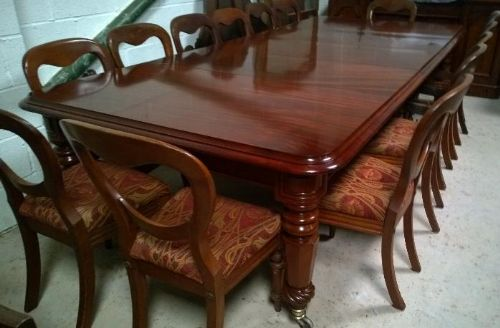A Most Handsome Wm Iv 12 Seater Mahogany Dining Table 433293 Sellingantiques Co Uk