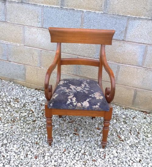 mahogany elbow arm chair from 19th century