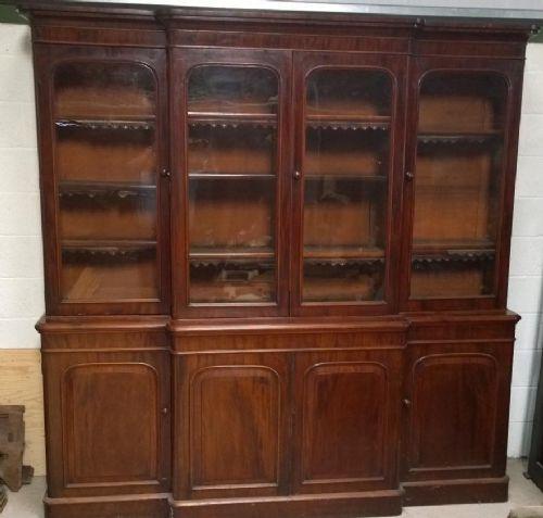 impressive 19th century mahogany 4 door library bookcase