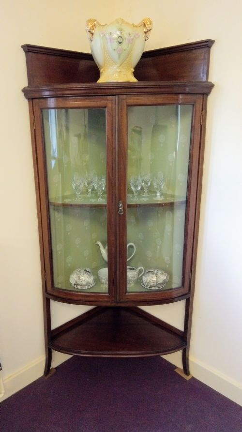 Well Presented Glass China Cabinet Dated 1870 Antiques