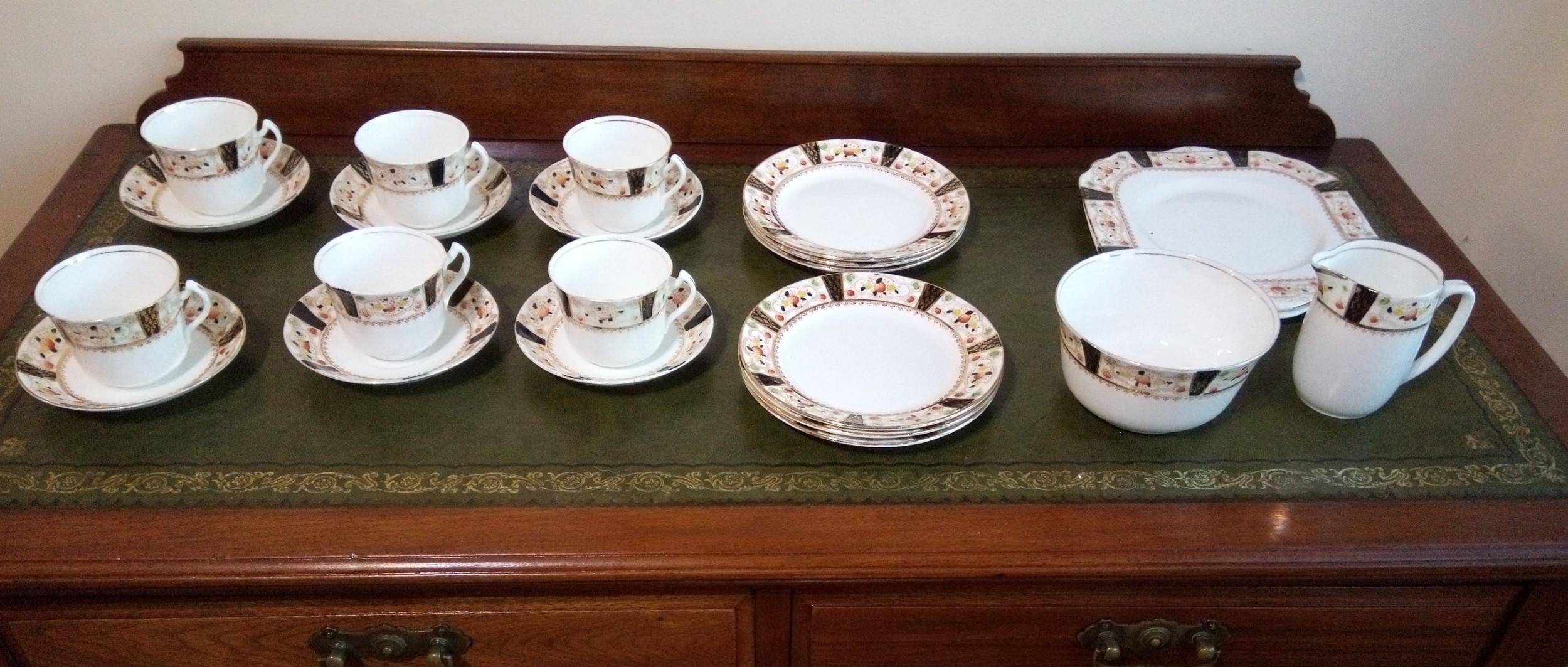 attractive china tea service gladstone potteries