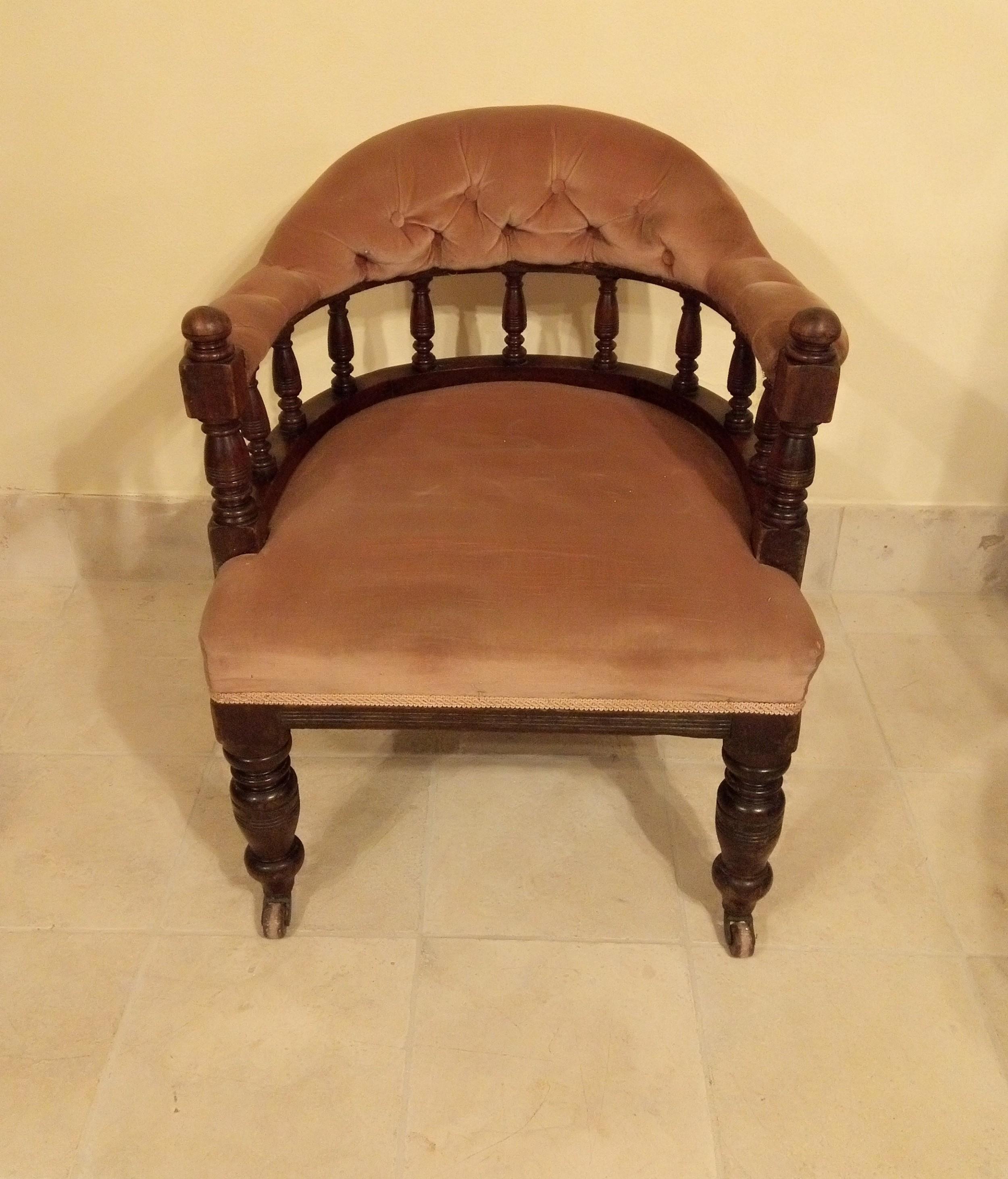 late victorian edwardian tub chair