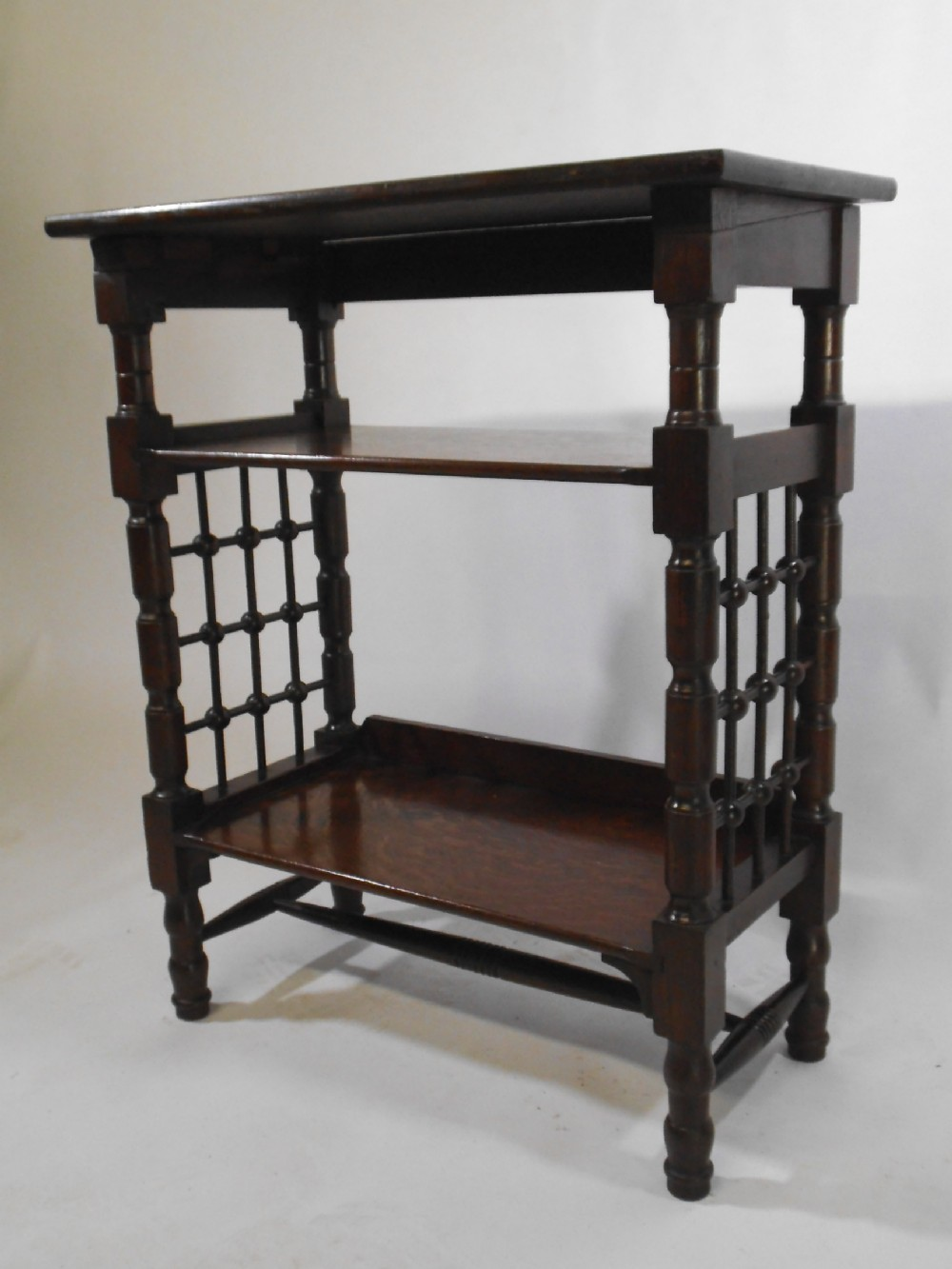 small arts and crafts etagere