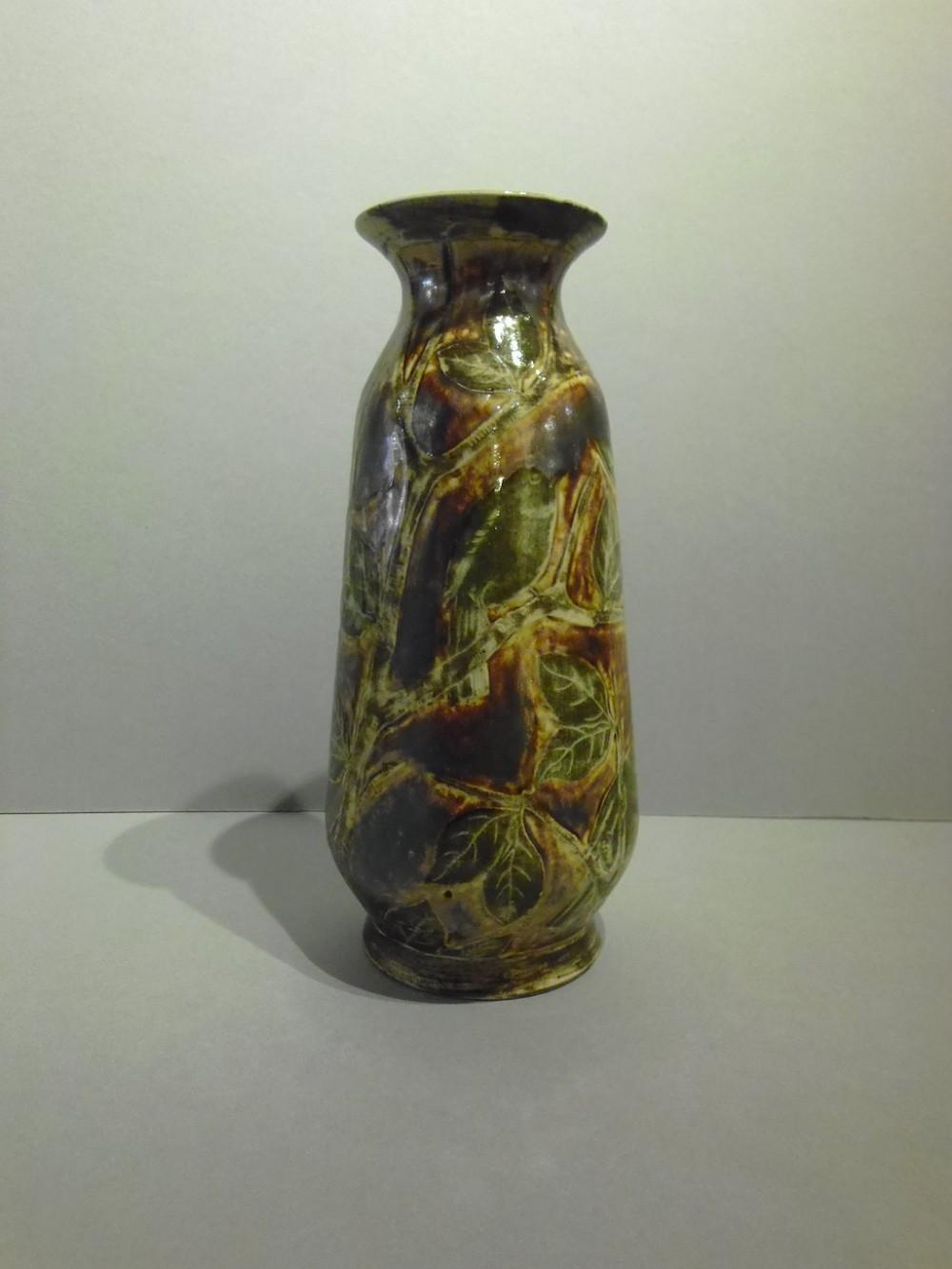martin bros stoneware salt glaze vase