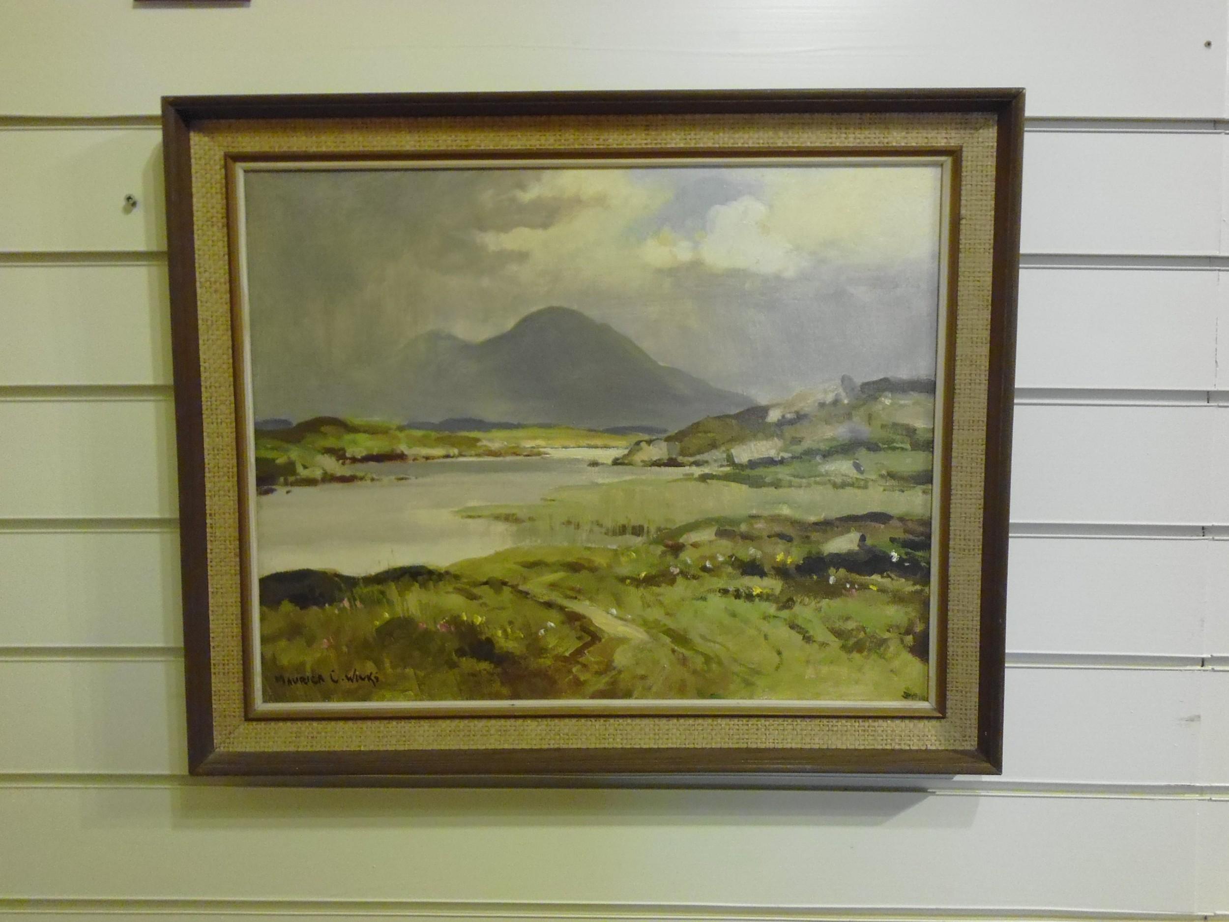 oil painting county sligo ireland maurice wilks