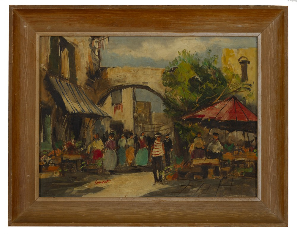 jean cordet 1910 french impressionist signed oil on canvas
