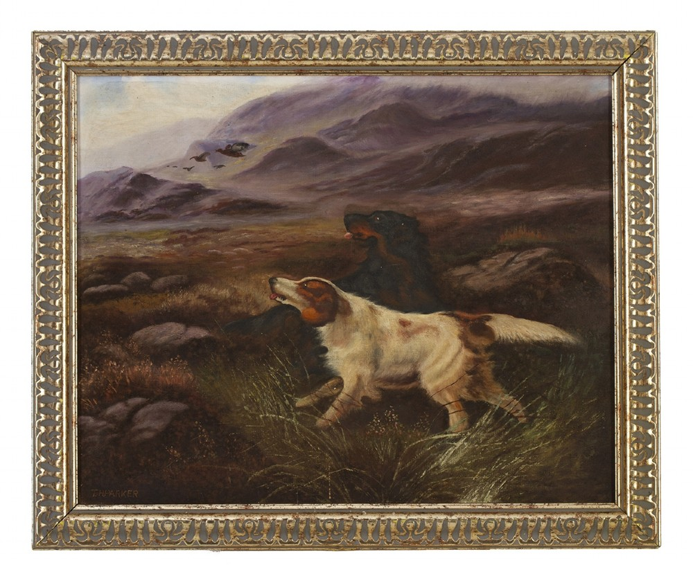 t h parker signed 20th century mid oil on canvas