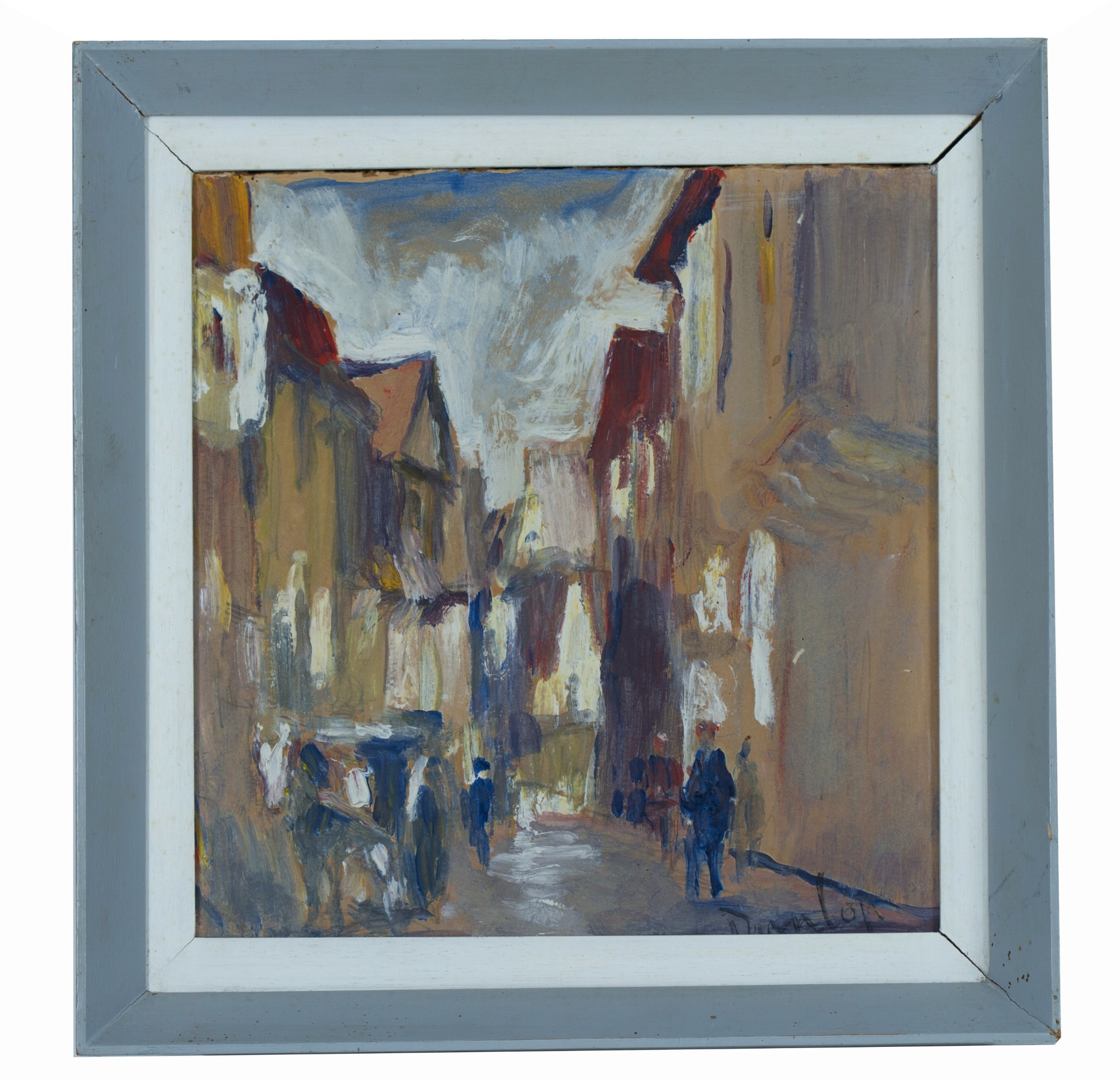street sceneronald ossory dunlop irish 18941973 oil on board sold