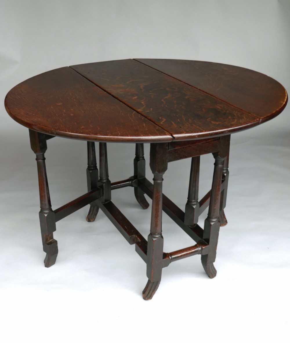 a superb william mary oak gateleg table of a small size english c168090