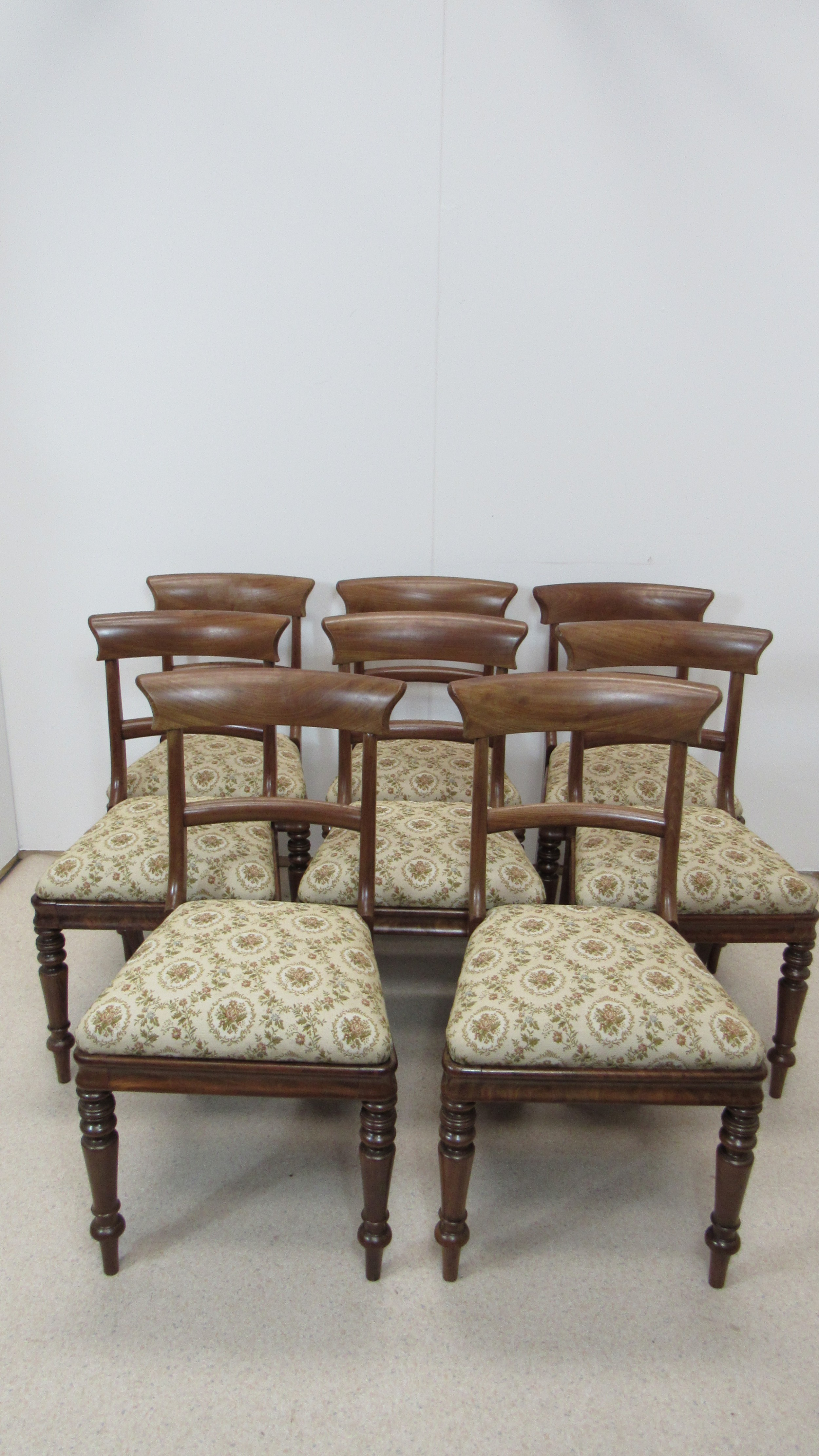 set of 8 mahogany chairs