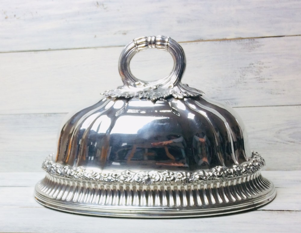 old sheffield plate meat cover