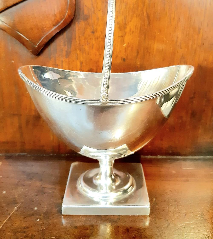 victorian 1893 silver bon bon dish