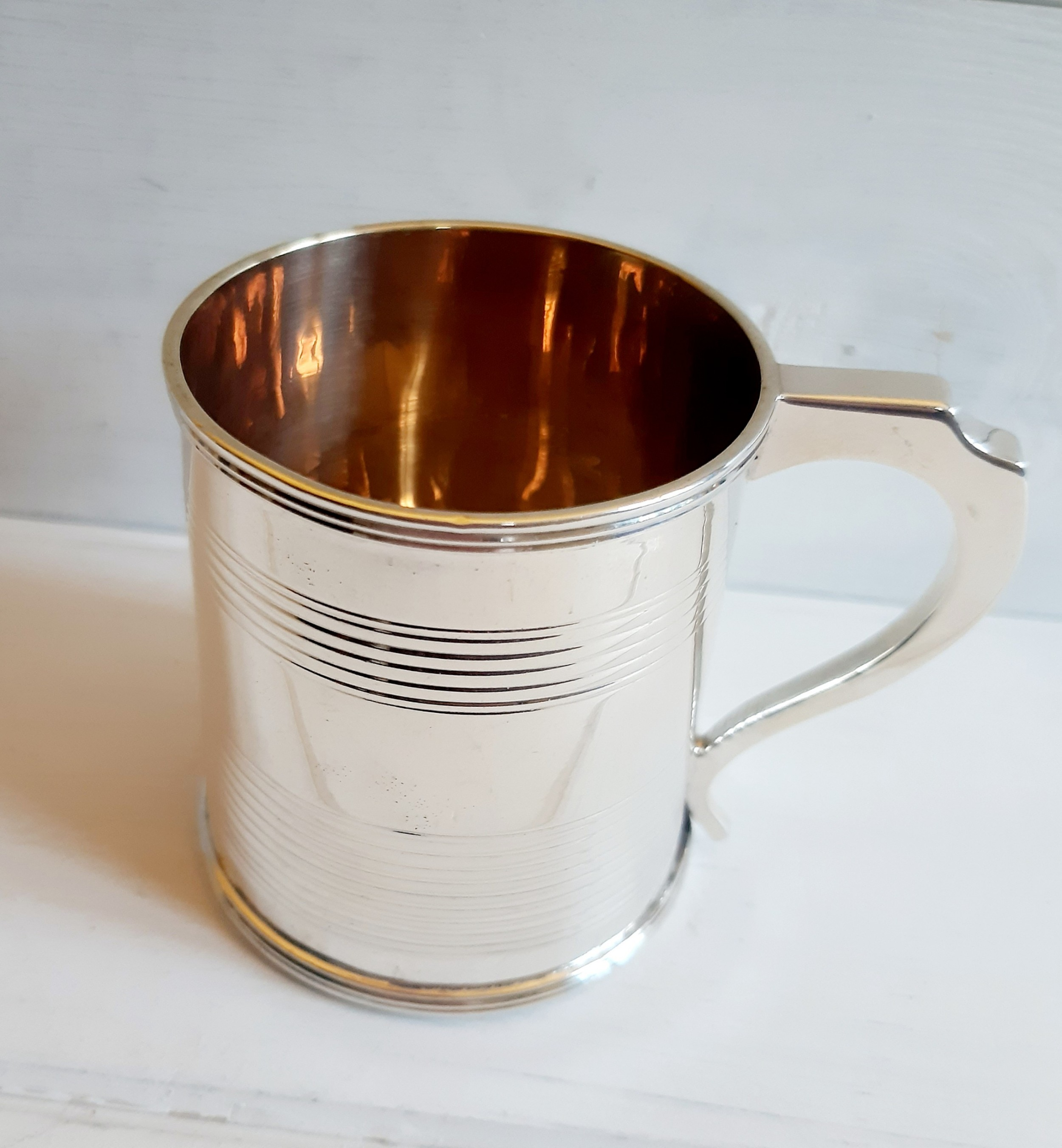 georgian 1826 silver christening mug