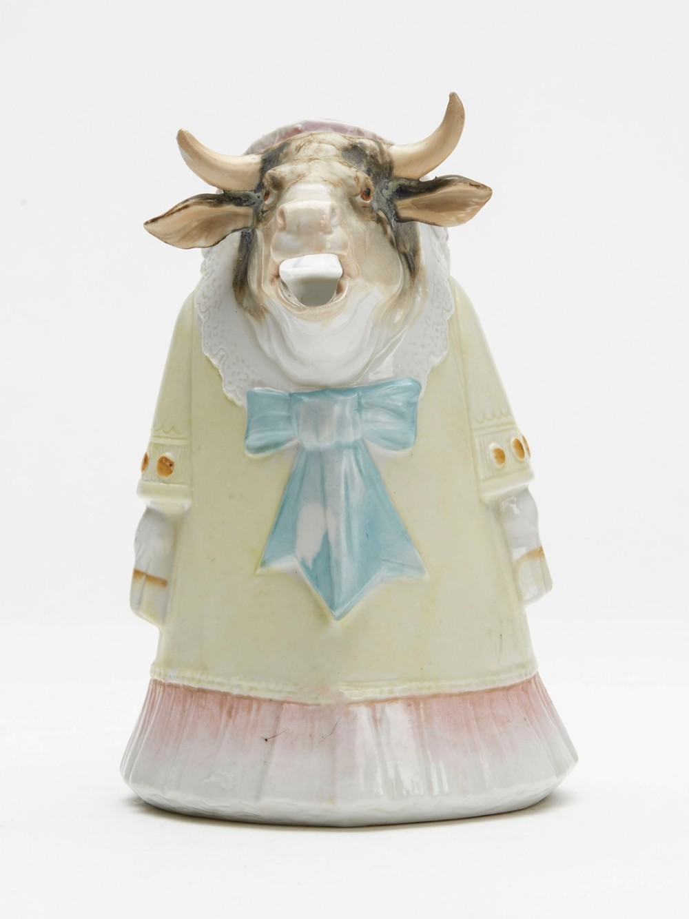 antique continental cow character cream jug 19th c