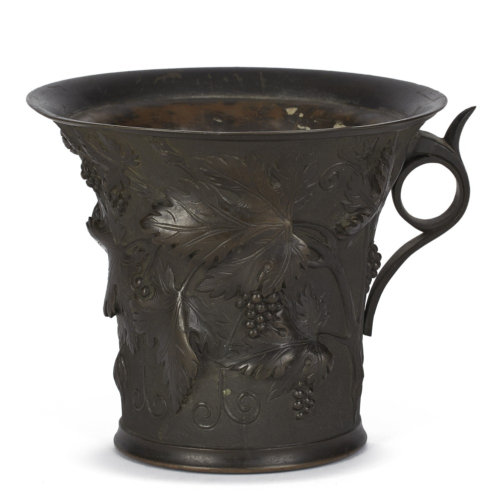 grand tour bronze vase with trailing vines 19th c