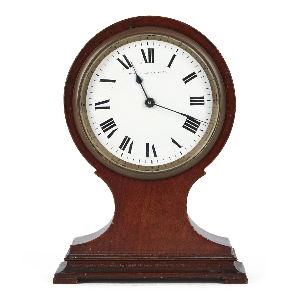 edwardian henry birks mahogany balloon shaped mantel clock