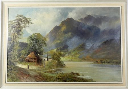 francis e jamieson pair framed scottish oil landscapes 191040