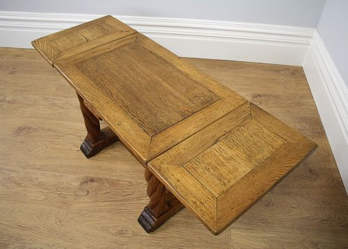 Oak Extending Rectangular Rustic Coffee Table Circa 1920