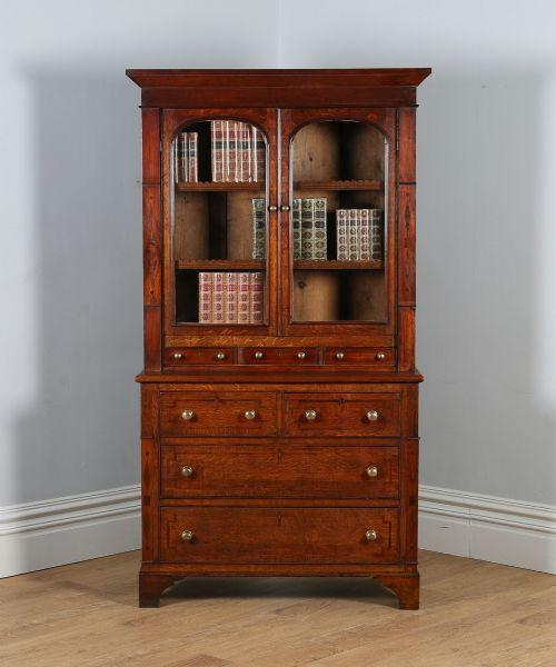 Dark Wood Welsh Dresser: Welsh (anglesey) Georgian Oak & Mahogany Housekeepers