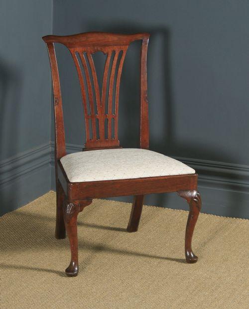 antique english georgian chippendale mahogany gentleman's dining chair circa 1780