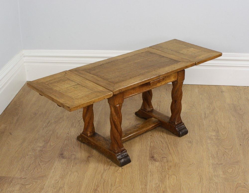 Oak Extending Rectangular Rustic Coffee Table Circa 1920 261135
