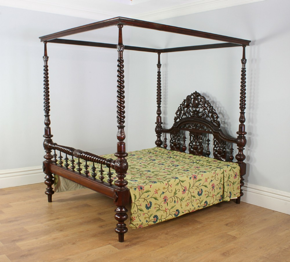5ft 7 colonial raj victorian four poster bed circa 1860 for Colonial beds
