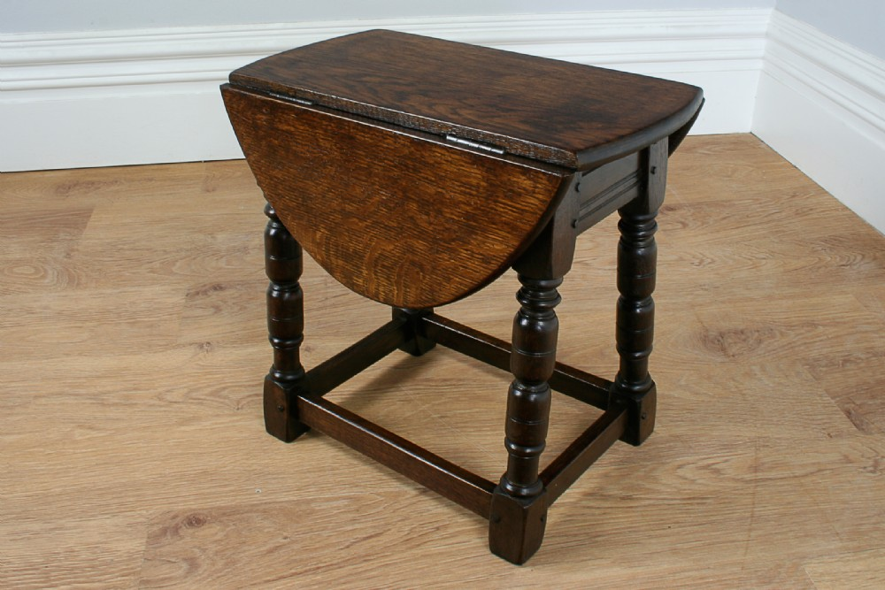 Charles Ii Style Oak Swivel Drop Leaf Coffee Table Circa 1890 298638