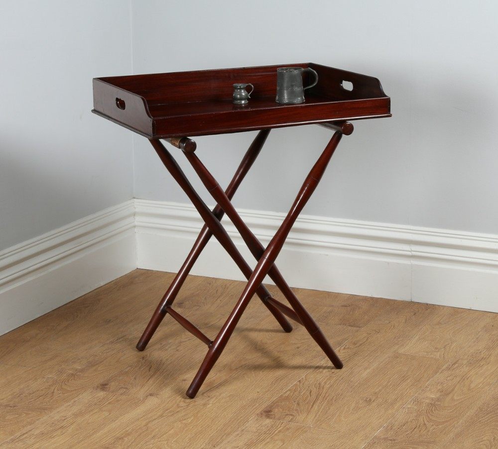 Victorian Mahogany Butlers Drinks Tray Table Amp Stand