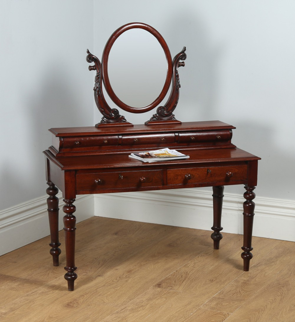 Victorian dressing table -  2 785 Yolanda Gray Antiques Magnificent Victorian Walnut Cheval Dressing Table