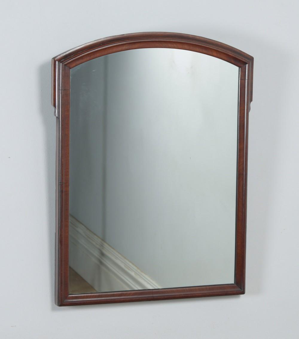 antique english victorian mahogany rectangular overmantle wall portrait hanging mirror circa 1870