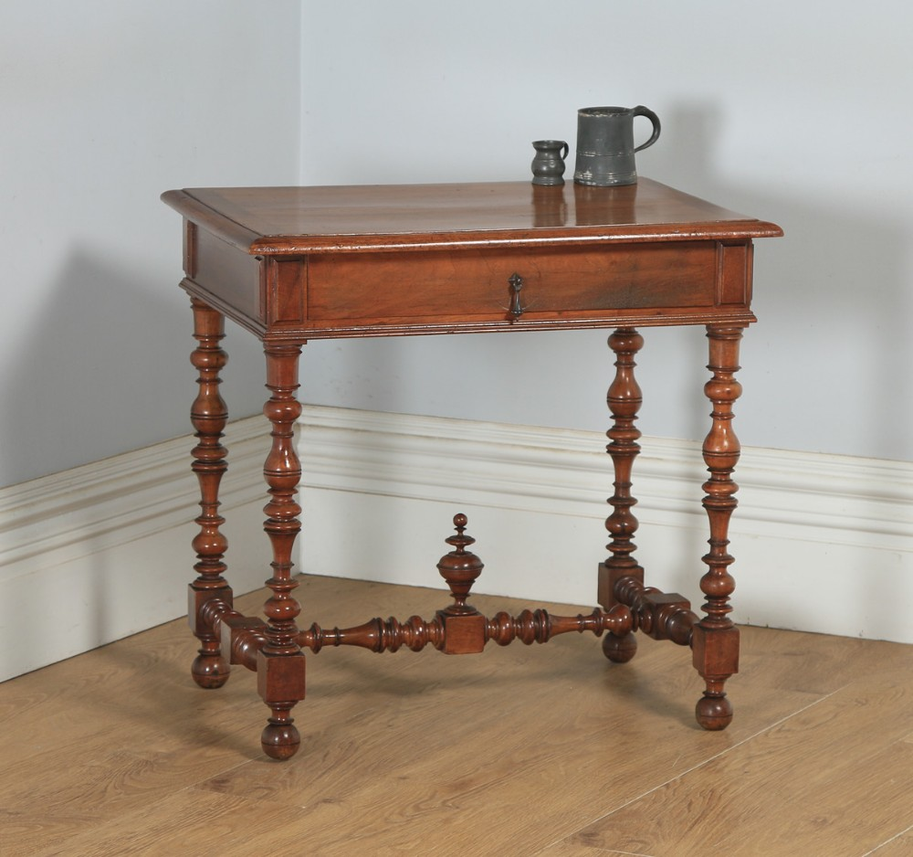 antique french walnut occasional side hall writing lowboy table circa 1870