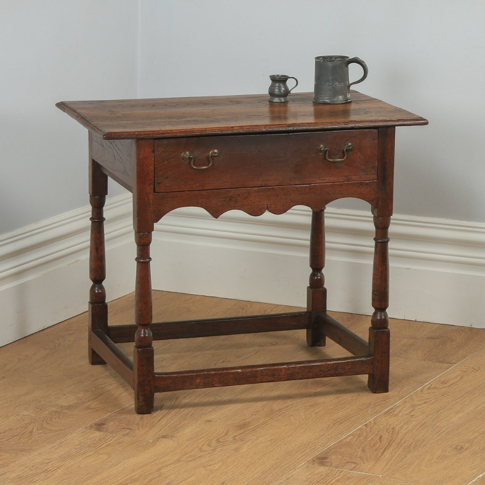antique english 18th century georgian oak occasional side hall writing table circa 1740