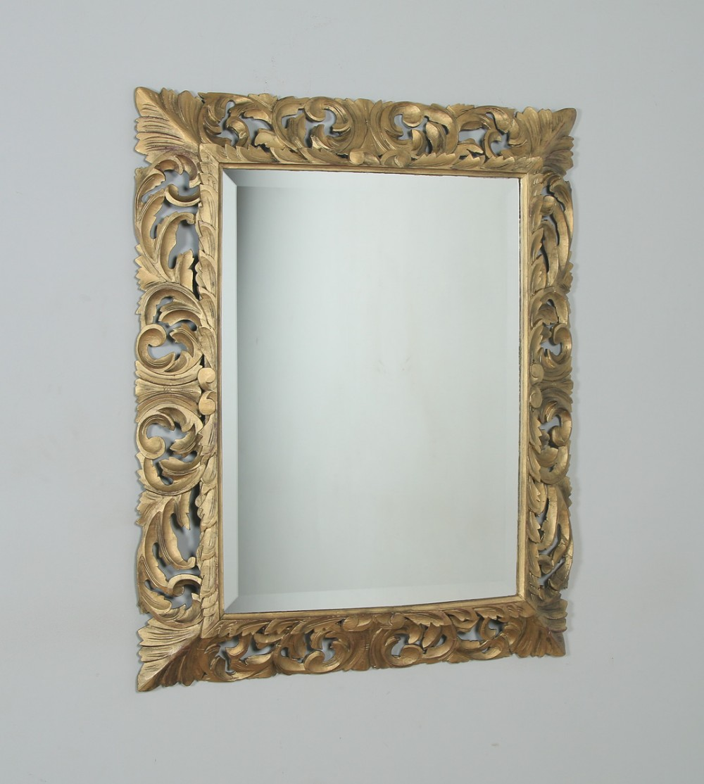 antique english victorian oak carved overmantle gilt gesso wood wall hanging mirror circa 1890
